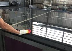 Производство стеклопакетов с рифленым стеклом